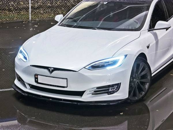 Bilde av Maxton Tesla S Front spoiler leppe Gloss svart
