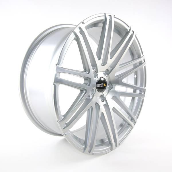 Bilde av Twin-Monotube Silver Brush felg 9x20 et39 VW T5 T6 Dyp Concave.